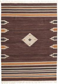 Tribal - Ruskea Matto 160X230 Moderni Käsinkudottu Tummanruskea/Tummanpunainen (Villa, Intia)