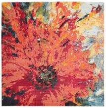 Flora Matto 200X200 Moderni Neliö Punainen/Oranssi ( Turkki)