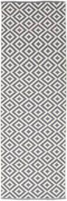 Torun - Harmaa/Neutral Matto 80X300 Moderni Käsinkudottu Käytävämatto Vaaleanharmaa/Vaaleanvioletti (Puuvilla, Intia)