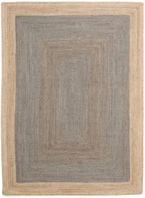 Ulkomatto Frida Frame - Harmaa/Natural Matto 160X230 Moderni Käsinkudottu Vaaleanharmaa/Beige (Juuttimatto Intia)