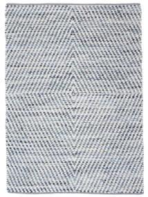 Hilda - Denim/Valkoinen Matto 140X200 Moderni Käsinkudottu Beige/Vaaleansininen (Puuvilla, Intia)