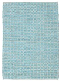 Elna - Bright_Blue Matto 170X240 Moderni Käsinkudottu Vaaleansininen/Siniturkoosi (Puuvilla, Intia)