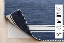 Anti Slip, Non-Woven Matto 160X230 Moderni Sininen/Vaaleanharmaa ( Belgia)