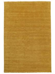 Handloom Fringes - Keltainen Matto 160X230 Moderni Keltainen/Vaaleanruskea (Villa, Intia)
