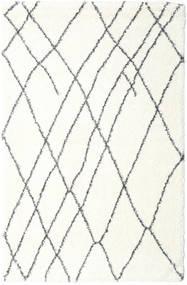 Shaggy Tangier - Valkoinen/Tummanharmaa Matto 200X300 Moderni Beige/Vaaleanharmaa ( Turkki)
