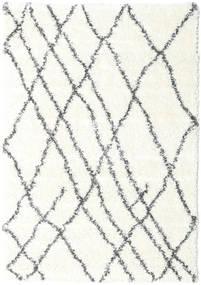 Shaggy Tangier - Valkoinen/Tummanharmaa Matto 160X230 Moderni Beige/Vaaleanharmaa ( Turkki)