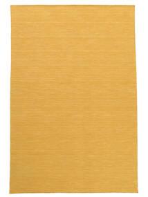 Kelim Loom - Keltainen Matto 160X230 Moderni Käsinkudottu Vaaleanruskea/Keltainen (Villa, Intia)