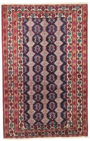 Beluch Patina Matto 132X206 Itämainen Käsinsolmittu Tummanvioletti/Beige (Villa, Persia/Iran)