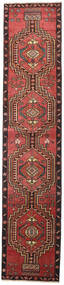 Ardebil Patina Matto 81X385 Itämainen Käsinsolmittu Käytävämatto Tummanpunainen/Musta (Villa, Persia/Iran)