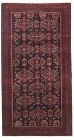 Beluch Patina Matto 95X177 Itämainen Käsinsolmittu Tummanpunainen/Musta/Tummanruskea (Villa, Persia/Iran)