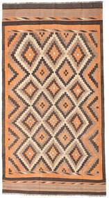 Kelim Fars Matto 186X350 Itämainen Käsinkudottu Käytävämatto Vaaleanruskea/Tummanpunainen (Villa, Persia/Iran)