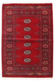 Pakistan Bokhara 3Ply Matto 99X142 Itämainen Käsinsolmittu Tummanpunainen/Punainen (Villa, Pakistan)