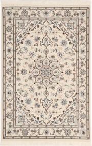 Nain 9La Sherkat Farsh Matto 81X122 Itämainen Käsinsolmittu Vaaleanharmaa/Beige (Villa/Silkki, Persia/Iran)