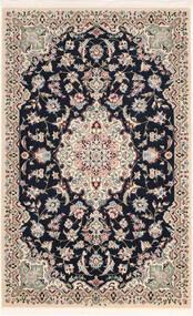 Nain 9La Sherkat Farsh Matto 90X142 Itämainen Käsinsolmittu Vaaleanharmaa/Musta (Villa/Silkki, Persia/Iran)