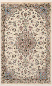 Nain 9La Sherkat Farsh Matto 90X144 Itämainen Käsinsolmittu Vaaleanharmaa/Beige (Villa/Silkki, Persia/Iran)