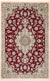 Nain 9La Sherkat Farsh Matto 90X145 Itämainen Käsinsolmittu Tummanpunainen/Keltainen (Villa/Silkki, Persia/Iran)