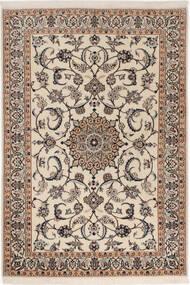 Nain 6La Matto 98X145 Itämainen Käsinsolmittu Vaaleanharmaa/Tummanruskea (Villa/Silkki, Persia/Iran)