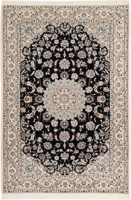 Nain 6La Matto 102X148 Itämainen Käsinsolmittu Vaaleanharmaa/Musta (Villa/Silkki, Persia/Iran)