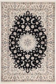 Nain 6La Matto 108X160 Itämainen Käsinsolmittu Vaaleanharmaa/Musta (Villa/Silkki, Persia/Iran)