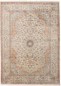 Kashmir 100% Silkki Matto 173X243 Itämainen Käsinsolmittu Vaaleanharmaa/Beige (Silkki, Intia)