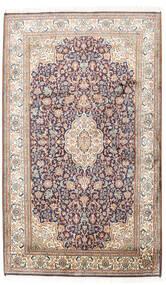 Kashmir 100% Silkki Matto 95X158 Itämainen Käsinsolmittu Vaaleanharmaa/Tummanharmaa (Silkki, Intia)