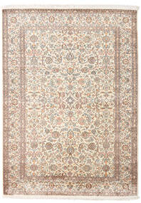 Kashmir 100% Silkki Matto 158X217 Itämainen Käsinsolmittu Vaaleanharmaa/Valkoinen/Creme (Silkki, Intia)