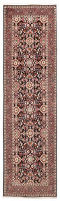 Bidjar Matto 82X292 Itämainen Käsinsolmittu Käytävämatto Tummanpunainen/Beige (Villa, Persia/Iran)