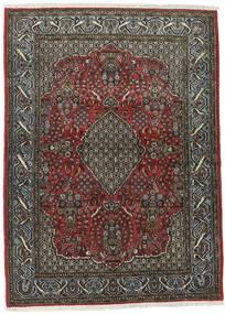 Ghom Kork/Silkki Matto 113X154 Itämainen Käsinsolmittu Tummanharmaa/Musta (Villa/Silkki, Persia/Iran)
