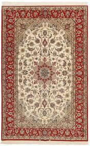 Isfahan Silkkiloimi Matto 153X237 Itämainen Käsinkudottu Beige/Ruskea/Vaaleanruskea (Villa/Silkki, Persia/Iran)