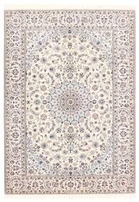 Nain 6La Matto 156X222 Itämainen Käsinkudottu Vaaleanharmaa/Beige/Valkoinen/Creme (Villa/Silkki, Persia/Iran)