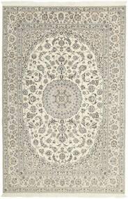 Nain 6La Matto 206X310 Itämainen Käsinsolmittu Vaaleanharmaa/Beige (Villa/Silkki, Persia/Iran)