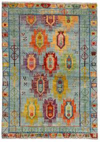 Moroccan Berber - Afghanistan Matto 124X176 Moderni Käsinsolmittu Vaaleanharmaa/Ruskea (Villa, Afganistan)