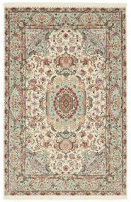 Tabriz 70 Raj Silkkiloimi Matto 100X152 Itämainen Käsinsolmittu Vaaleanharmaa/Beige (Villa/Silkki, Persia/Iran)