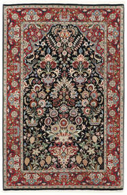 Ilam Sherkat Farsh Silkki Matto 105X155 Itämainen Käsinsolmittu Tummanpunainen/Vaaleanharmaa (Villa/Silkki, Persia/Iran)