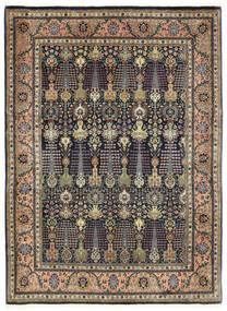 Tabriz 50 Raj Matto 150X198 Itämainen Käsinsolmittu Tummanharmaa/Tummansininen (Villa, Persia/Iran)