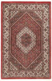 Bidjar Silkillä Matto 95X148 Itämainen Käsinsolmittu Tummanpunainen/Tummanruskea (Villa/Silkki, Persia/Iran)