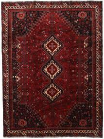 Shiraz Matto 230X306 Itämainen Käsinsolmittu Tummanpunainen (Villa, Persia/Iran)