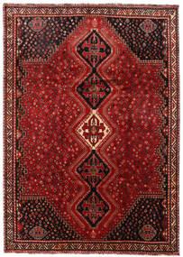 Shiraz Matto 225X316 Itämainen Käsinsolmittu Tummanpunainen/Tummanruskea (Villa, Persia/Iran)