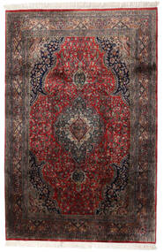 Keshan Indo Matto 184X278 Itämainen Käsinsolmittu Tummanruskea/Tummanpunainen (Villa, Intia)