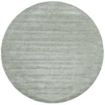 Handloom - Soft Teal Matto Ø 250 Moderni Pyöreä Vaaleanvihreä/Siniturkoosi Isot (Villa, Intia)