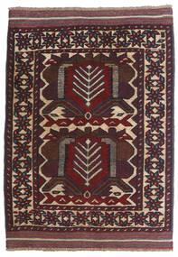 Kelim Golbarjasta Matto 100X130 Itämainen Käsinkudottu Tummanpunainen/Tummanruskea (Villa, Afganistan)