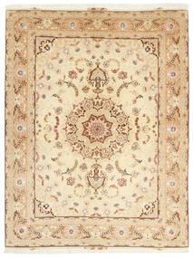 Tabriz 50 Raj Matto 153X208 Itämainen Käsinsolmittu Beige/Tummanbeige (Villa/Silkki, Persia/Iran)