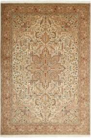 Tabriz 50 Raj Matto 200X302 Itämainen Käsinsolmittu Beige/Vaaleanruskea/Ruskea (Villa/Silkki, Persia/Iran)