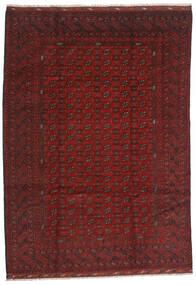 Afghan Matto 206X289 Itämainen Käsinsolmittu Tummanpunainen/Tummanruskea (Villa, Afganistan)