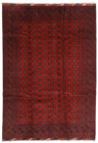 Afghan Matto 202X283 Itämainen Käsinsolmittu Tummanpunainen/Tummanruskea (Villa, Afganistan)