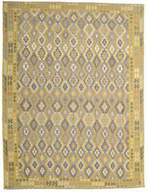 Kelim Afghan Old Style Matto 302X404 Itämainen Käsinkudottu Keltainen/Vaaleanharmaa Isot (Villa, Afganistan)