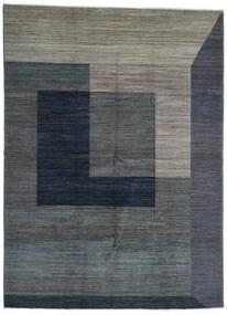 Battuta Matto 220X300 Moderni Käsinsolmittu Tummanharmaa/Tummansininen (Villa, Afganistan)