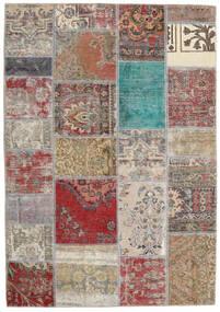 Patchwork - Persien/Iran Matto 141X203 Moderni Käsinsolmittu Vaaleanharmaa/Ruskea (Villa, Persia/Iran)