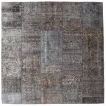 Patchwork - Persien/Iran Matto 204X204 Moderni Käsinsolmittu Neliö Tummanharmaa/Vaaleanharmaa/Ruskea (Villa, Persia/Iran)