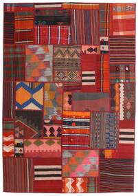 Tekkeh Kelim Matto 141X203 Moderni Käsinkudottu Tummanpunainen/Tummanruskea (Villa, Persia/Iran)